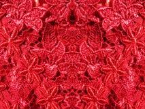 Tissu rouge de dentelle Photographie stock libre de droits