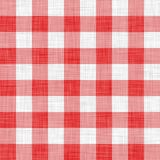 Tissu rouge de pique-nique Photos libres de droits