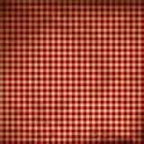 Tissu rouge de pique-nique Photographie stock