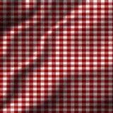 Tissu rouge de pique-nique Images stock