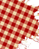 Tissu rouge de pique-nique Images libres de droits