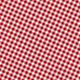 Tissu rouge de pique-nique Photo libre de droits