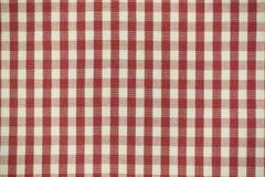 Tissu rouge de plaid Photographie stock libre de droits