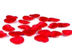 Tissu rouge de plusieurs petit coeurs Image libre de droits