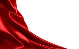 Tissu rouge de satin Images libres de droits