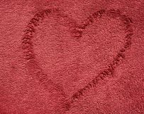 Tissu rouge foncé de serviette de couleur Image libre de droits