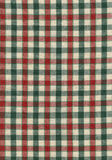 Tissu rouge, vert, et beige Image libre de droits