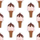 Tissu sans joint Crême glacée Le lustre de chocolat illustration libre de droits
