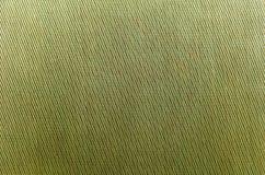 Tissu texturisé rugueux vert Configuration diagonale fabrication Photos libres de droits