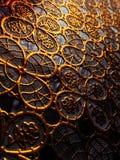 Tissu texturisé des modèles de couleur d'or Photographie stock