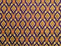 Tissu thaïlandais de modèle photo stock