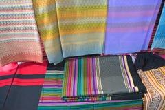 Tissu thaïlandais de textile tissé, tissu photo libre de droits
