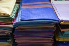 Tissu thaïlandais de textile tissé, tissu image libre de droits