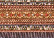 Tissu tissé thaï antique Image libre de droits