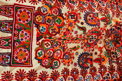 Tissu traditionnel coloré. photo stock