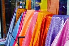 Tissu traditionnel coloré de broderie Photo libre de droits