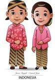 Tissu traditionnel de Javanese Image libre de droits