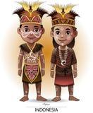 Tissu traditionnel de la Papouasie Images libres de droits