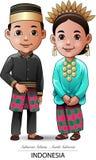 Tissu traditionnel de Makassar Photos libres de droits