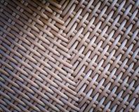 Tissu tressé de fond en osier Photos stock