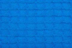 Tissu tricoté par bleu avec le modèle pour la conception images stock