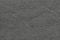 Tissu tricoté par texture de couleur noire Photos libres de droits