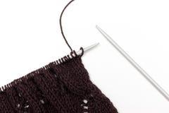 Tissu tricoté sur le fond neutre Photo stock