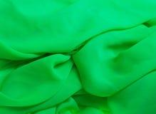Tissu vert Photographie stock