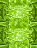 Tissu vert abstrait avec des étincelles Image libre de droits