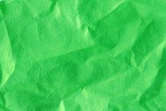 Tissu vert chiffonné Image libre de droits