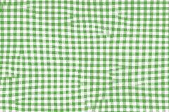 Tissu vert de couverture de pique-nique avec les modèles et la texture carrés illustration de vecteur