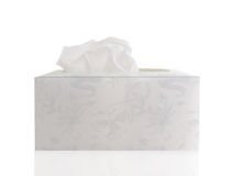 Tissue. Hand made tissue box with tissue on a white background Stock Photography
