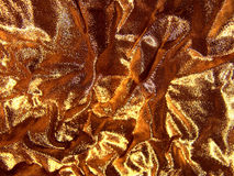 Gold fabric background Royalty Free Stock Images