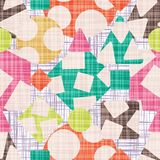 Tissue abstract print with geometric shapes. Vector illustration. Rhombus, square, triangle and circle design vector illustration