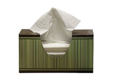 Tissue Box. A green and brown box of tissues Stock Photography