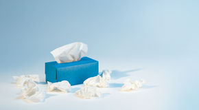 Tissue box. A box of tissue around it Stock Images