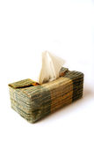 Tissue box. Holder with dispenser on top Royalty Free Stock Photo