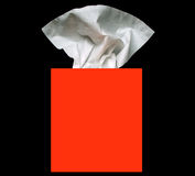 Tissue box. A box of facial tissues Royalty Free Stock Photo