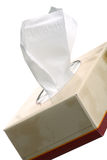Tissue box. Box of tissues isolated on white background Royalty Free Stock Images