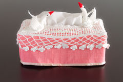 Tissue box crochet Stock Images