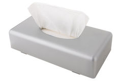 Tissue box holder made of matte gray plastic Royalty Free Stock Image