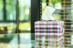 Tissue box. Home decoration with tissue box royalty free stock photos
