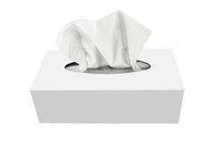 Tissue box. Isolated on a white background Stock Photography