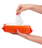Tissue box. Isolated on a white background Royalty Free Stock Images