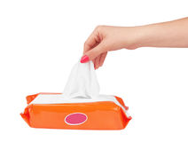 Tissue box. Isolated on a white background Stock Photos