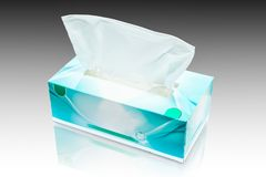 Tissue box mock up white tissue box blank label and no text for Stock Image