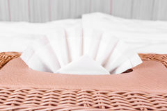 Tissue box, plastic wicker Stock Photography