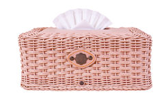 Tissue box, plastic wicker Royalty Free Stock Photography