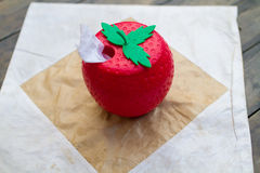 Tissue Box strawberries in the  market Royalty Free Stock Images