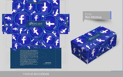 Tissue box template concept series stock illustration